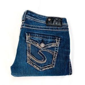 28x33 AIKO Silver Jeans